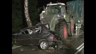 wypadki przy pracy 09 maszyny rolnicze, ciagniki, zakopane, spalone