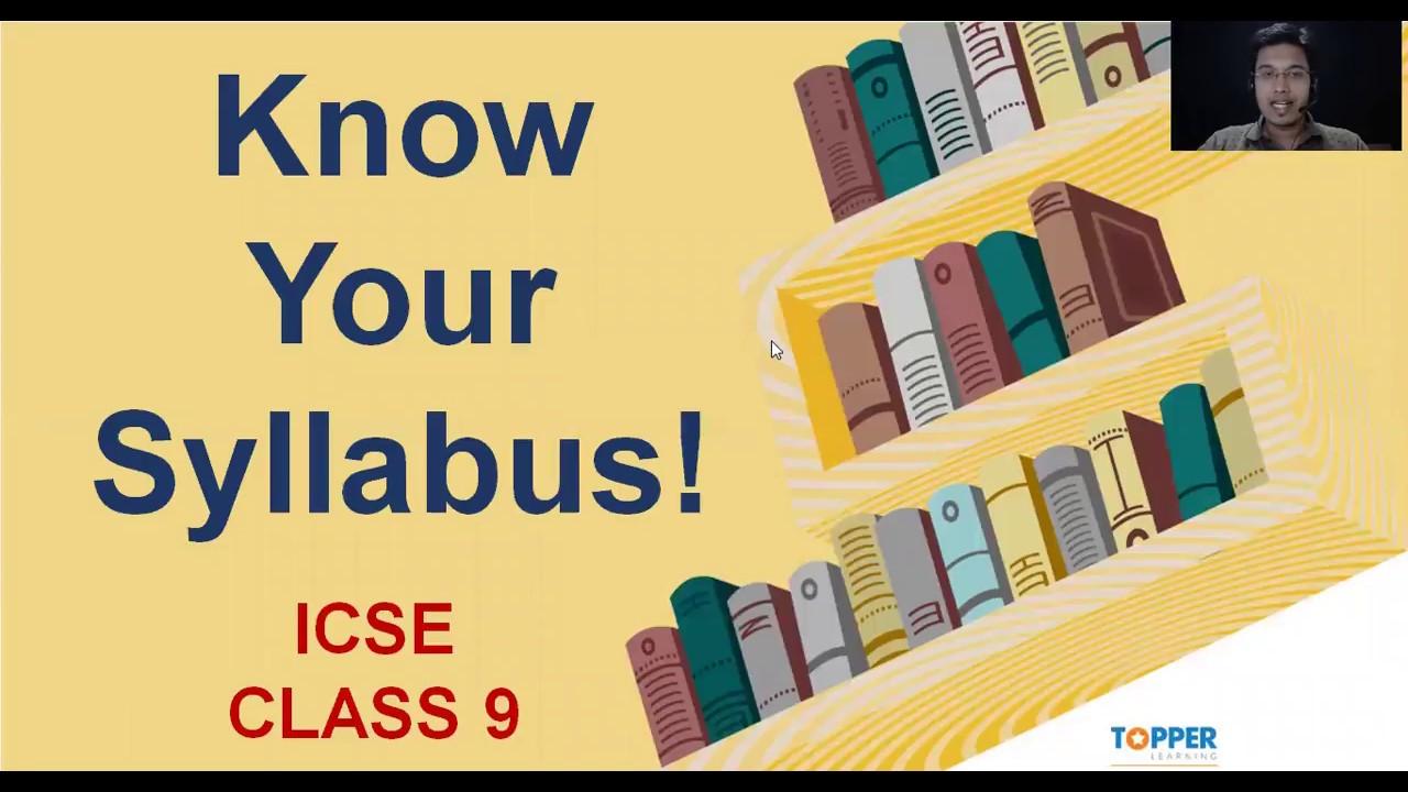 ICSE Class 9 Mathematics and Science Syllabus 2018–19