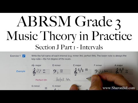 ABRSM Grade 3 Music Theory Section J Part 1 Intervals With Sharon Bill