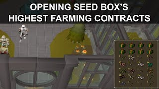 OSRS | Opening 10 HIGHEST Level Seed Box's - (85 FARMING CONTRACTS)