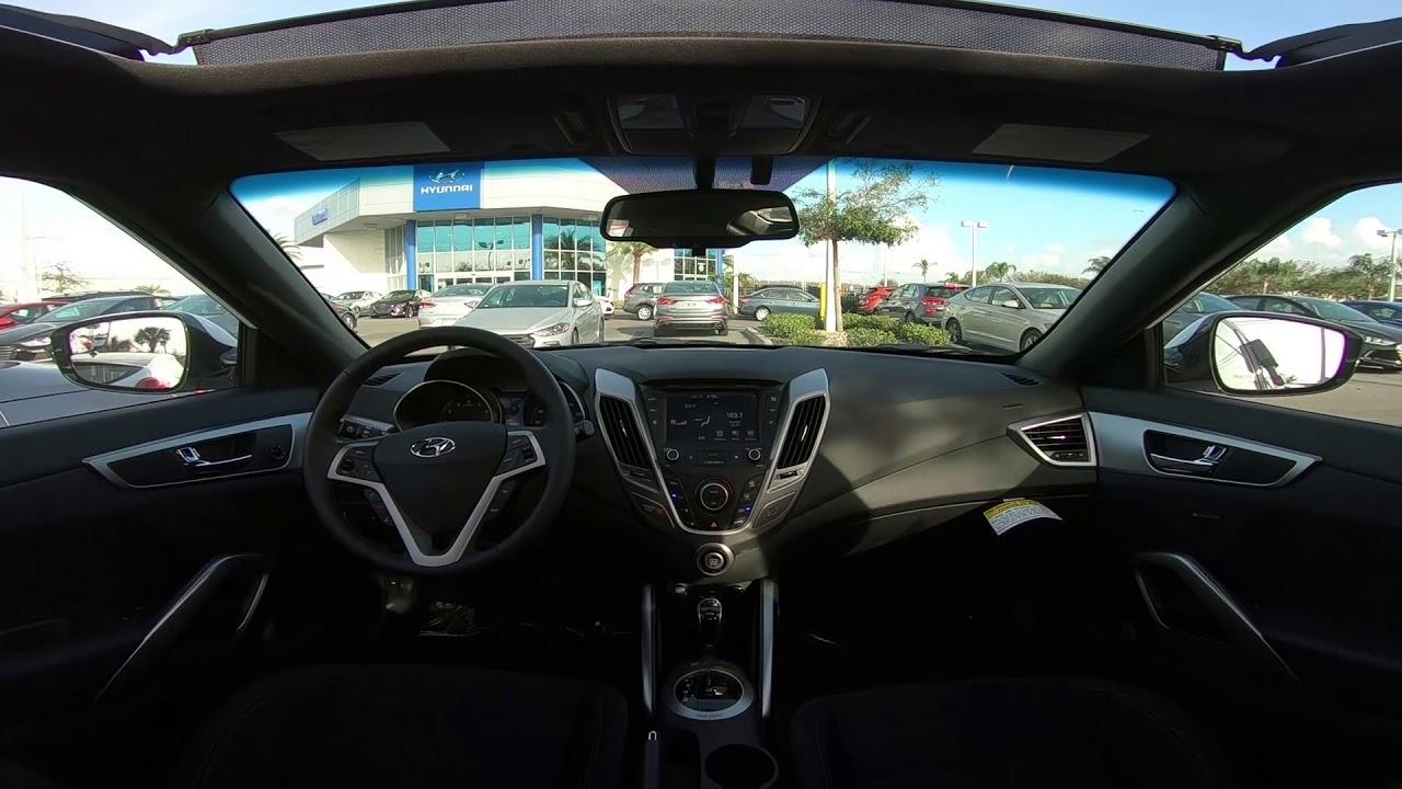 2017 Hyundai Veloster Value Edition Interior Youtube