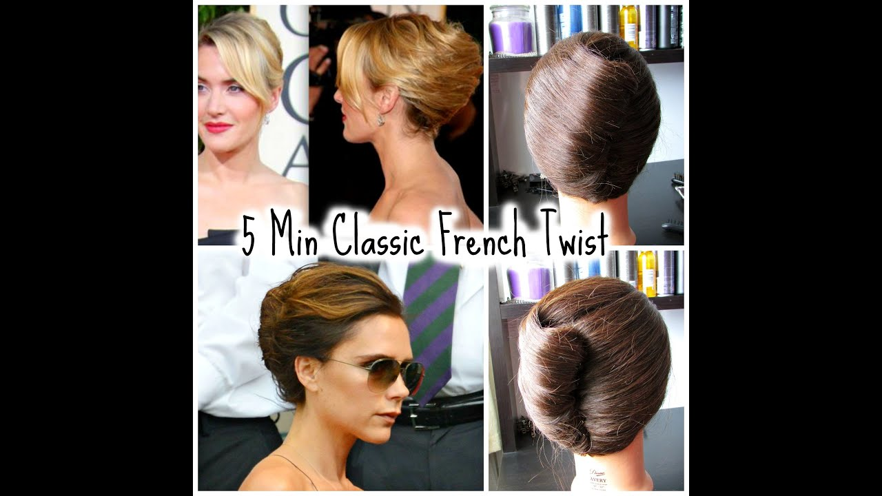 Classic French Twist Wedding Prom Hairstyle Youtube