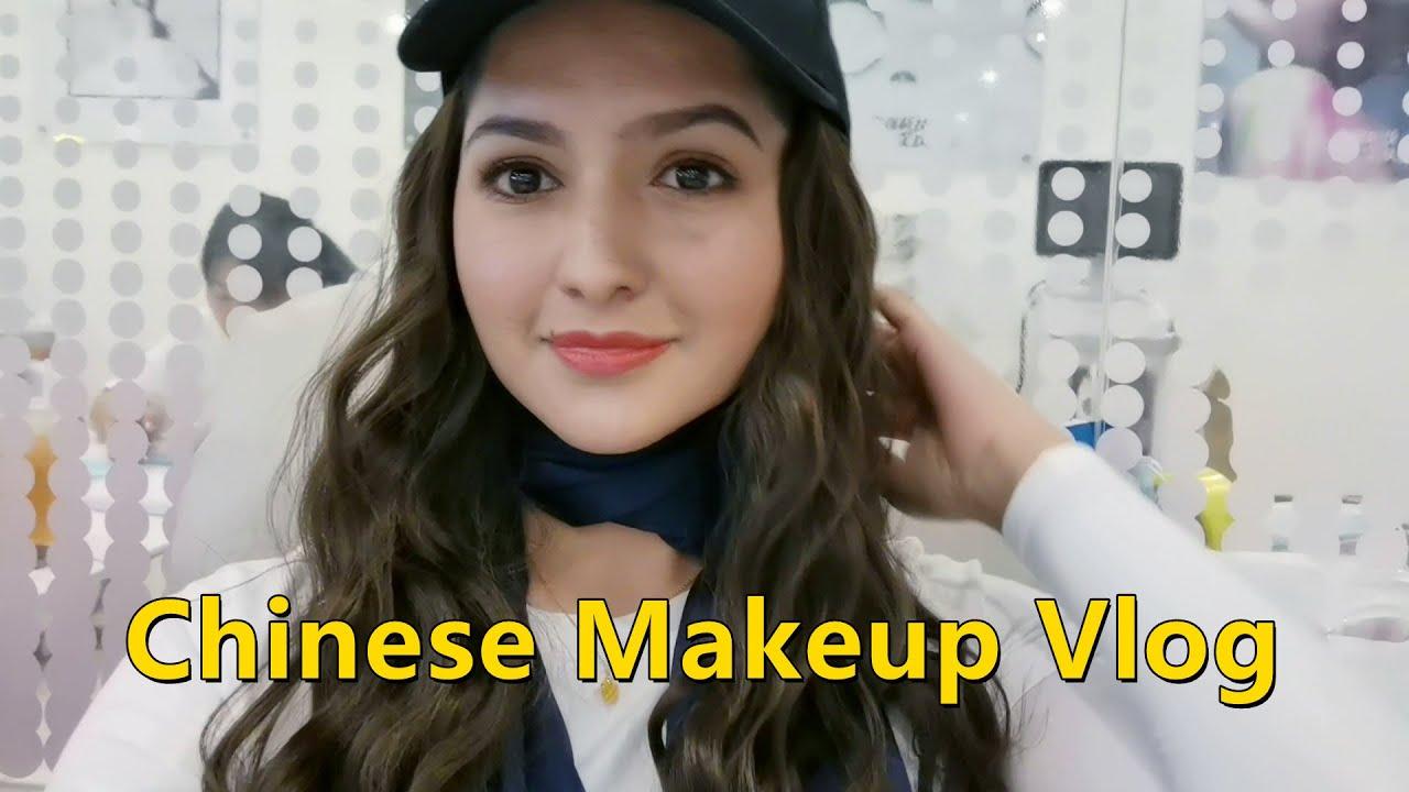 Natural Makeup Look by Chinese Makeup Artist !!  | 美月 Mahzaib vlogs(43)