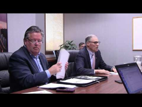 Gov. Jay Inslee discusses I-5 bridge, state budget, etc