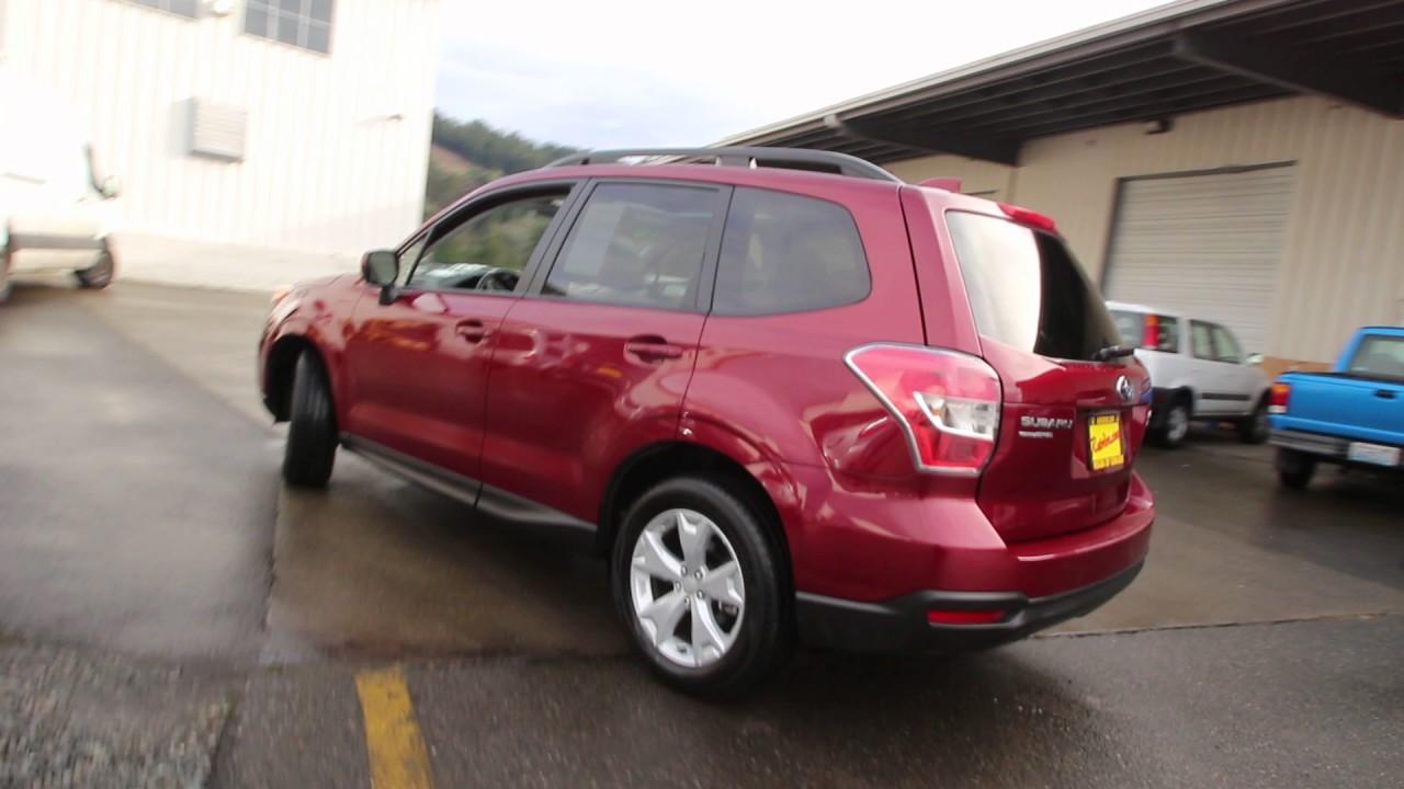 2016 Subaru Forester 2 5i Premium Venetian Red Pearl Gh566556 Seattle Sumner