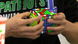 7x7 Rubik's Cube official single - 3:22.86