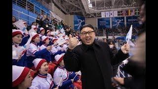 笑ってはいけない動画  金正恩のそっくりさん 北朝鮮応援団の前に突然現れる  平昌オリンピック