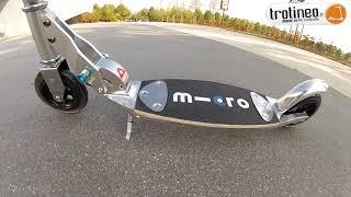 Micro mobility® Flex trottinette pliable dès 7-10 ans à plateau flexible en bois et fibres de verre