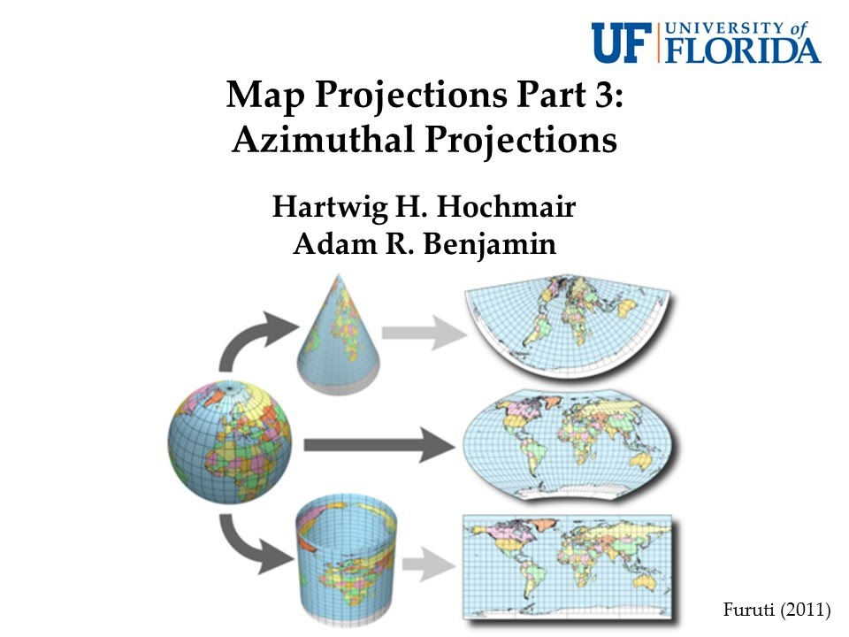 Map Projections Part 3: Azimuthal Projections - YouTube
