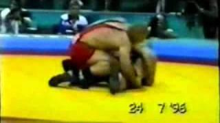130 кг. Финал. А. Карелин - М. Гаффари (Атланта 1996)