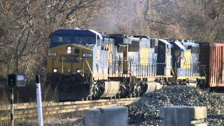 HD: Railfanning CSX in West Springfield, MA 1/7/12