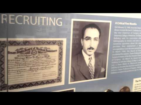 Take a tour of the Michael E. DeBakey Museum at Baylor College of Medicine