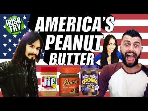 Irish People Try American PEANUT BUTTER FLAVORS For First Time!!