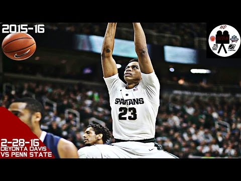 Deyonta Davis Full Highlights vs Penn State (2-28-16) 15 Pts 5 Rebs 3 Blks