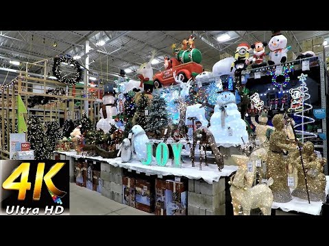 4K CHRISTMAS SECTION AT LOWE'S - Christmas Shopping Christmas Trees Decorations Ornaments Lowes