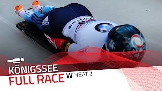 KÖnigssee | BMW IBSF World Cup 2016/2017 - Women's Skeleton Heat 2 | IBSF Official