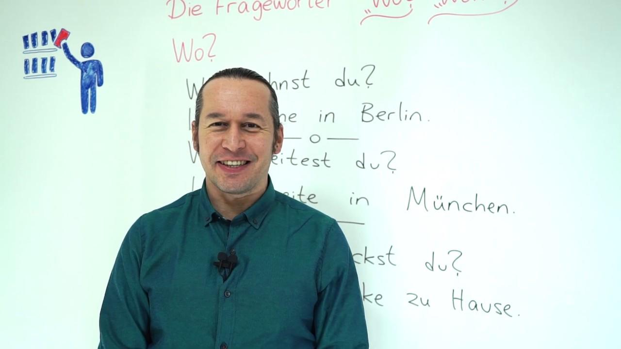 "Almanca A1 INTENSIV Ders - 31 Die Fragewörter - ""Wo ?"" - ""Wohin ?"" | Almanca Soru Kelimeleri"