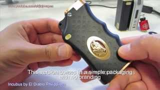 Incubus dual 18650 mechanical box mod by El Diablo Philippines - Breakdown of the clone