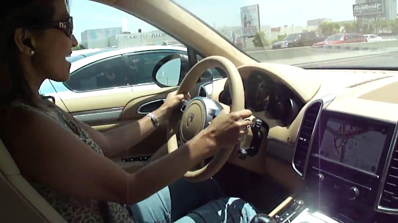 Vilma Vitug Driving Porsche Cayenne Turbo 2011 In Grey