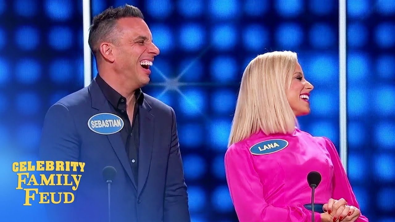 Download Sebastian Maniscalco's father-in-law cracks up Steve Harvey! | Celebrity Family Feud