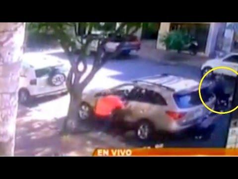 Vídeo muestra violento asalto a unos coreanos en Asunción