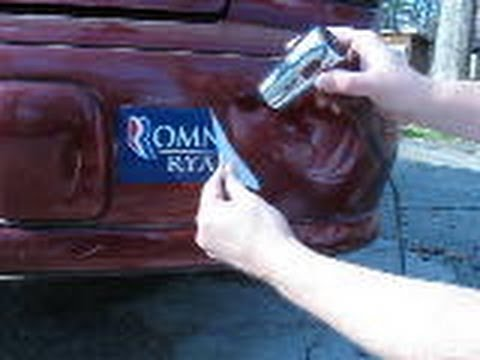 Ways To Remove Bumper Stickers