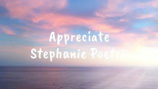 |¦ Stephanie Poetri - Appreciate(English version) ¦| [LYRIC]