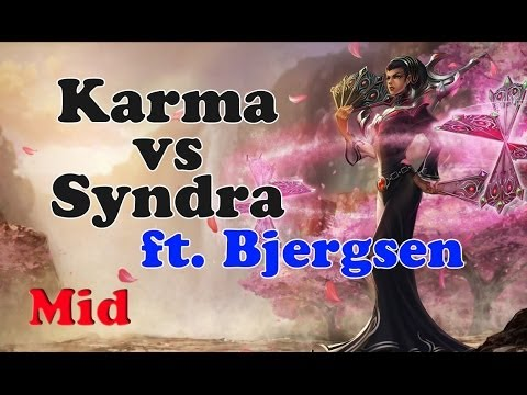 Bjergsen (& TheOddOne) - Karma vs Syndra (Fas Scriptor) - Mid - Challenger I