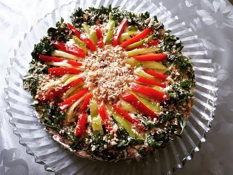 Badimcan salati. Leziz yay yemeyi. Салат из баклажана. Patlican salatasi.