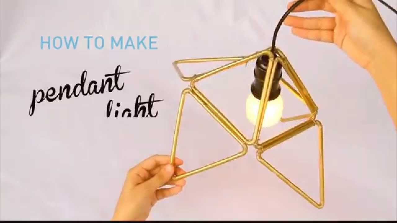 How To Make Plastic Straw Pendant Light With Triangle