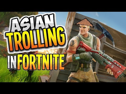 FIRST EVER GAME OF FORTNITE! | Asian Trolling in Fortnite?