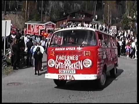 Russetoget på Fagernes, 17.mai 1989.