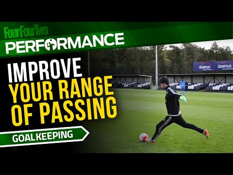 Goalkeeper training drill | How to improve your range of passing | Swansea City Academy