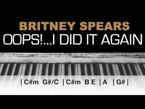 Britney Spears - Oops! I Did It Again Karaoke Chords Acoustic Piano Cover Instrumental Lyrics