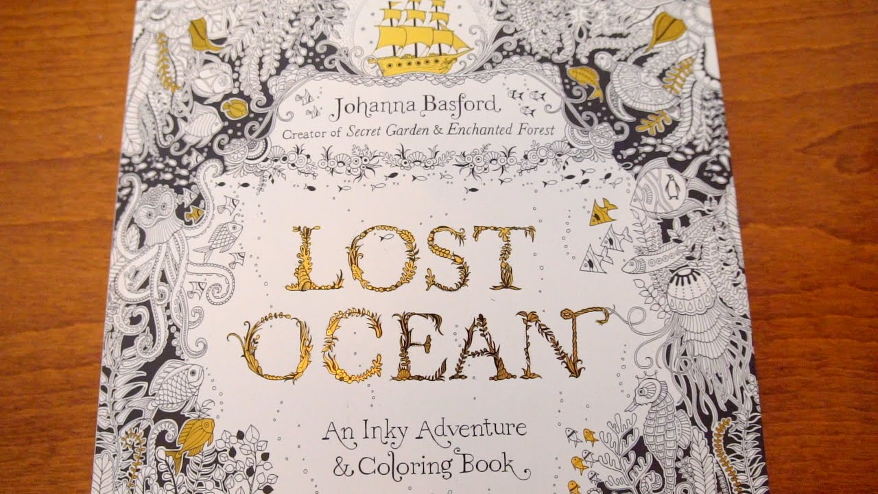 Lost Ocean Coloring Book Look Through