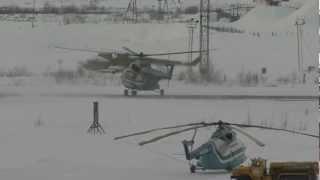 Ми-8 Ra-25750 Взлёт При Сильном Ветре