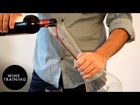 Wine Service - How to Decant a Bottle of Wine