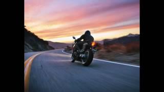 мотоциклист мотоцикл дорога художник Игорь Сахаров Уроки живописи для начинающих