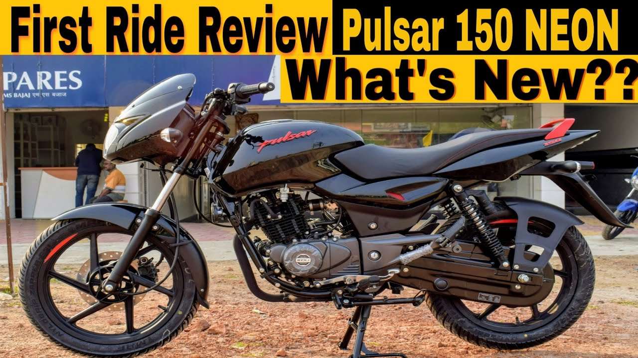 2019 Pulsar 150 Classic Neon First Ride Review Specs Price