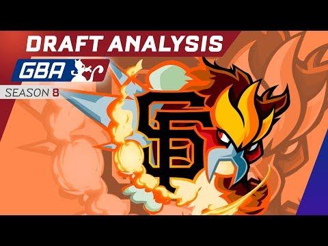 GBA Season 8 - San Francisco GiEnteis Draft Analysis