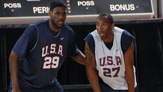 Kobe, LBJ, Young KD Battle Out in 2007 USA Team Scriammage - CLUTCH Kobe!