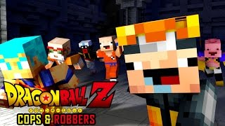 IN THE WRONG ANIME! | Minecraft Dragon Ball Z Cops N Robbers (Roleplay)