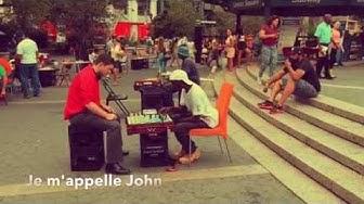 John, joueur d'échecs à Union Square