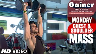 GAINER (PECS & DELTS) MONDAY: Chest & Shoulder || MASS ||