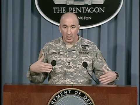 OASD: DOD NEWS BRIEFING WITH MAJ. GEN. BARBERO FROM THE PENT