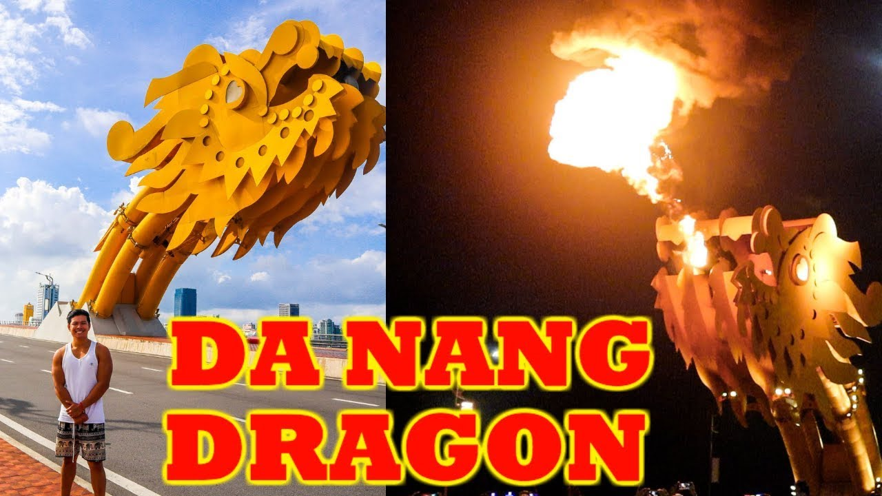 DA NANG Dragon Bridge Fire Show | VIETNAM 2019