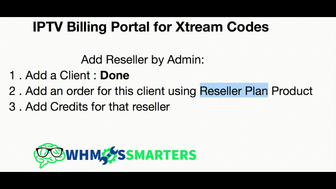 Adding Reseller by Admin | Xtream Codes Billing Panel