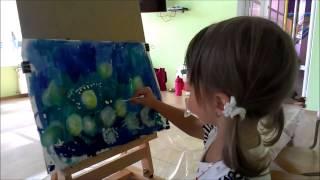 """Урок рисования для самых маленьких """"Одуванчики"""""""
