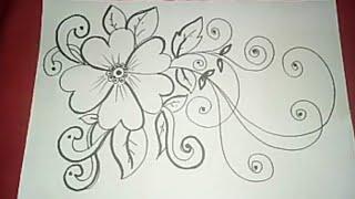 "Gambar Batik ""bunga Ornamen"" #5"
