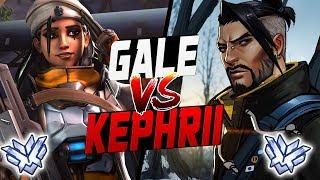GALE PRO ANA VS KEPHRII AS HANZO! [ OVERWATCH SEASON 9 TOP 500 ]